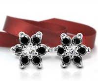 Ag Real Diamond Black Diamond Fashion Earring # AGSE0016