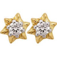 Ag Real Diamond Solitaire Star Diamond Earring # AGSE0017