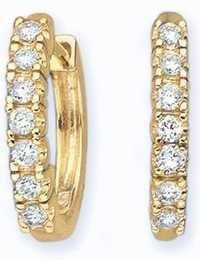 Ag Real Diamond Fashion Hoop Shape Earring # AGSE0032
