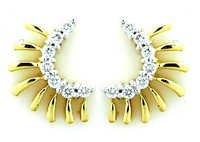 Ag Real Diamond Traditional Fashion Shape Earring # AGSE0038