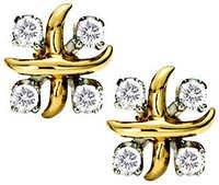 Ag Real Diamond Eight Stone X Fancy Shape Earring # AGSE0057