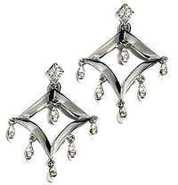 Ag Real Diamond White Kite Fashion Earring # AGSE0058