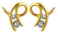 Ag Real Diamond Four Stone Fancy curve Earring # AGSE0059
