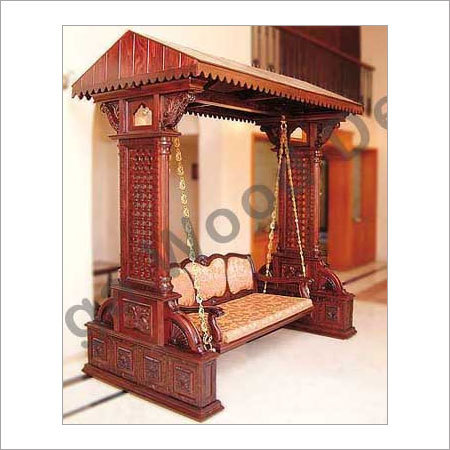 Wooden Carved Swing Jhula