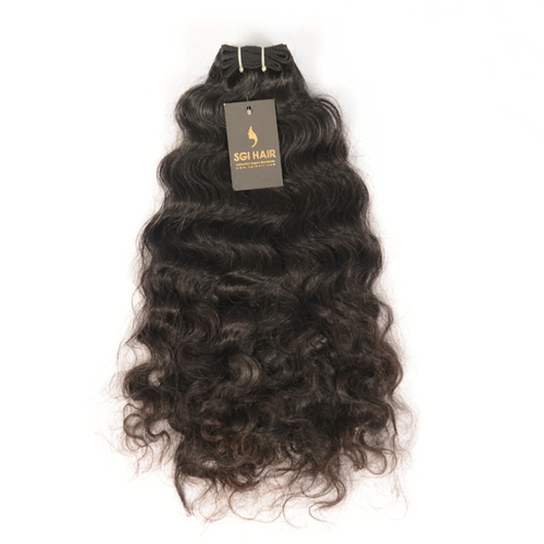 RAW INDIAN VIRGIN TEMPLE CURLY HUMAN HAIR