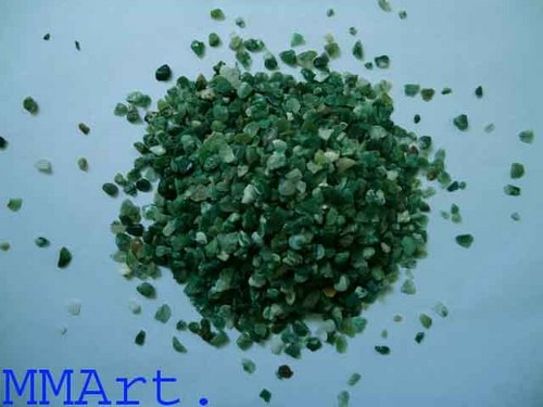 Natural green Moss Agate pebbles & aggregate stone Gravel