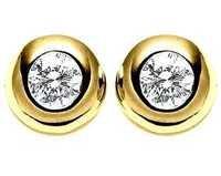 Ag Real Diamond Solitaire Diamond Fancy Earring # AGSE0064