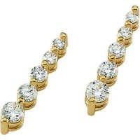 Ag Real Diamond Ten Stone Dangling Fancy Earring # AGSE0077