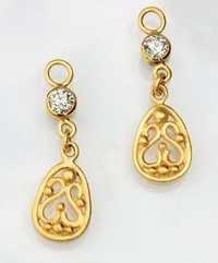 Ag Real Diamond Solitaire Diamond Traditional Earring # AGSE0089