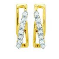Ag Real Diamond Fourteen Stone Fancy Earring # AGSE0111