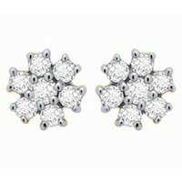 Ag Real Diamond Pressure Set Fashion Earring # AGSE0112