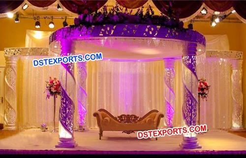 New Stylish Wedding Crystal Mandap