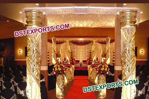 Wedding Golden Fiber Crystal Gate