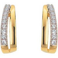Ag Real Diamond Straight Hoop Fancy Earring # AGSE0131