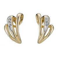 Ag Real Diamond Four Stones White Fancy Shape Earring # AGSE0139
