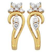 Ag Real Diamond Pressure Set Fashionable Earring # AGSE0158