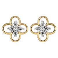 Ag Real Diamond Pressure Set Fancy Earring # AGSE0162