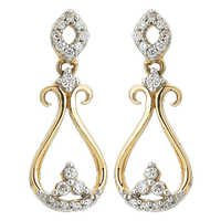 Ag Real Diamond Traditional Dangling Earring # AGSE0163