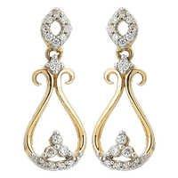 Ag Real Diamond Traditional Dangling Earring # AGSE0163