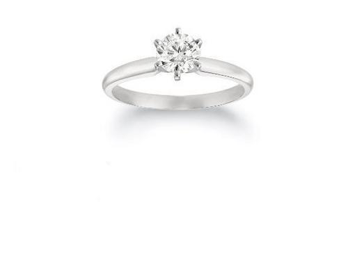 Ag Real Diamond Solitaire Diamond  I Love You Fancy Ring # AGSR003