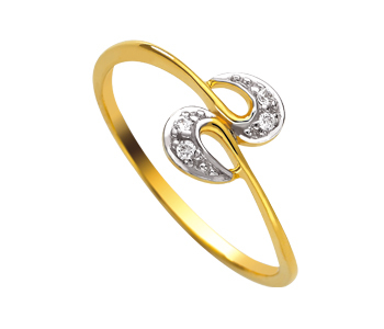 Ag Real Diamond Four Stone Fancy Band Ring # AGSR0007
