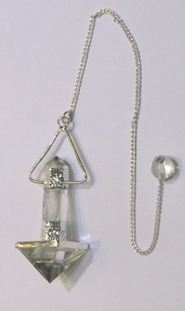 Natural Quartz Crystal Pyramid And Pencil