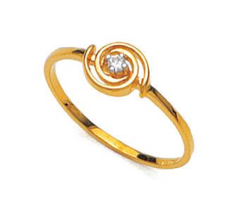 Ag Real Diamond Solitaire Diamond Circular Shape Band Ring # AGSR0010