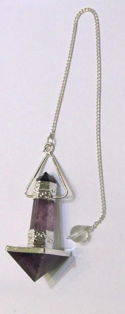 Amethyst Pyramid And Pencil
