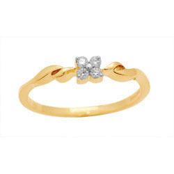 Ag Real Diamond Four Stone Pressure Set Fancy Ring # AGSR0011