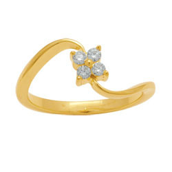 Ag Real Diamond Pressure Set Fancy Curve Ring # AGSR0012