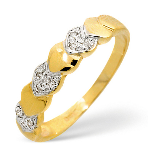 Ag Real Diamond Heart Fashion Band Ring # AGSR0019