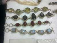 semi precious silver jewellery of india
