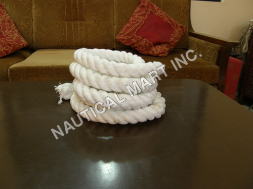 VINTAGE NAUTICAL HOME DECOR WHITE ROPE