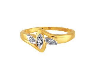 Ag Real Diamond Three Stone Triple Marquise Band Ring # AGSR0023