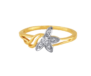 Ag Real Diamond Five Stone Flower Fancy Ring # AGSR0024