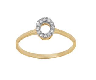 Ag Real Diamond Black Hole Fancy Ring # AGSR0028