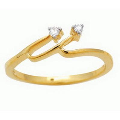 Ag Real Diamond Stone Fashion Shape Ring # AGSR0050
