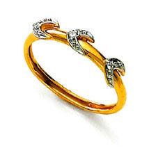 Ag Real Diamond Stone Horse Leg Shape Fancy Ring # AGSR0051