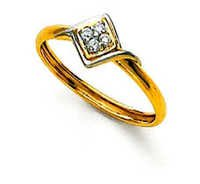 Ag Real Diamond Stone Square Fancy Shape Ring # AGSR0054
