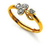 Ag Real Diamond Stone Flower Shape Fancy Ring # AGSR0057