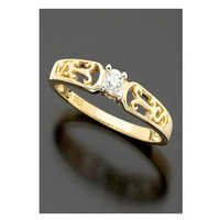 Ag Real Diamond One Stone Traditional Shape Ring # AGSR0078
