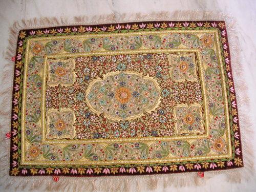 Silk Thread Embroidered Carpet