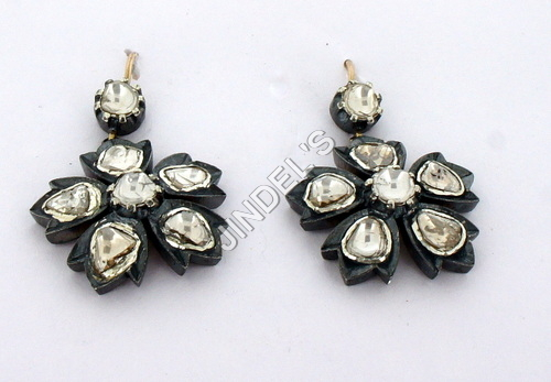 Pave Designer Cameo Earring