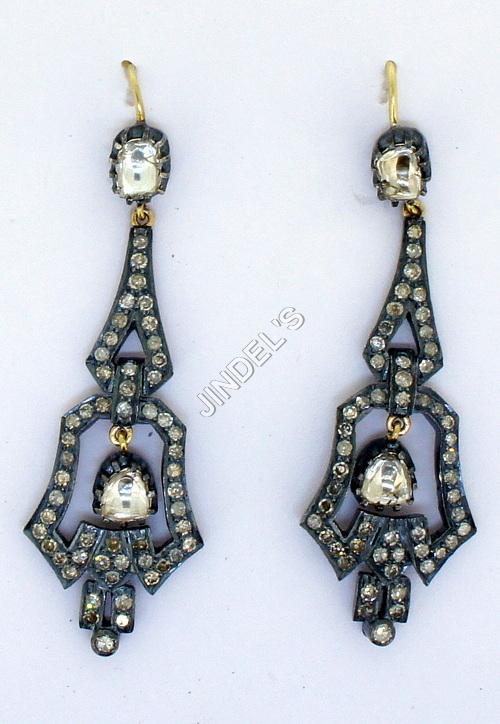 Pave Halo Dangle Earrings