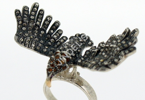 Natural Pave Diamond Rings