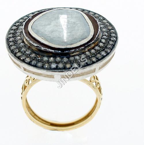 Fancy Pave Diamond Ring