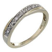 Ag Real Diamond Fancy Yellow Gold Plating Ladies Ring # AGSR0086