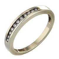 Ag Real Diamond Eleven Stones Ladies Band Ring # AGSR0090