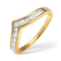 Ag Real Diamond Eleven Stones Solid Band Ring # AGSR0100