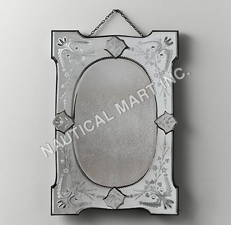DISTRESSED WALL -MIRROR RECTANGLE